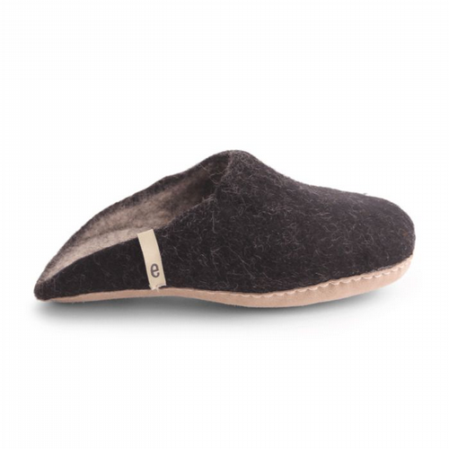 Men's Wool Slippers - Black